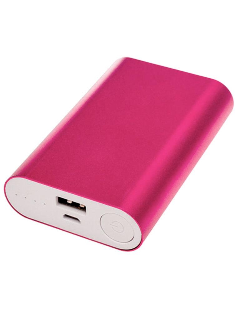 Розовый внешний аккумулятор сувенирная продукция оптом флеш империя Екатеринбург