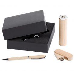 заказать оптом недорого подарочный набор флешка+ручка+повер банк москва