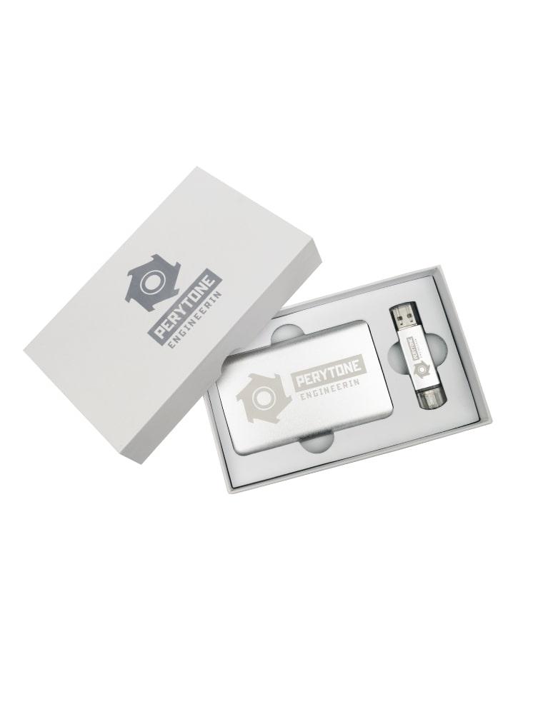 Подарочный комплект флешка внешний аккумулятор упаковка флеш империя