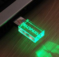 флешка кристалл с подсветкой флеш империя