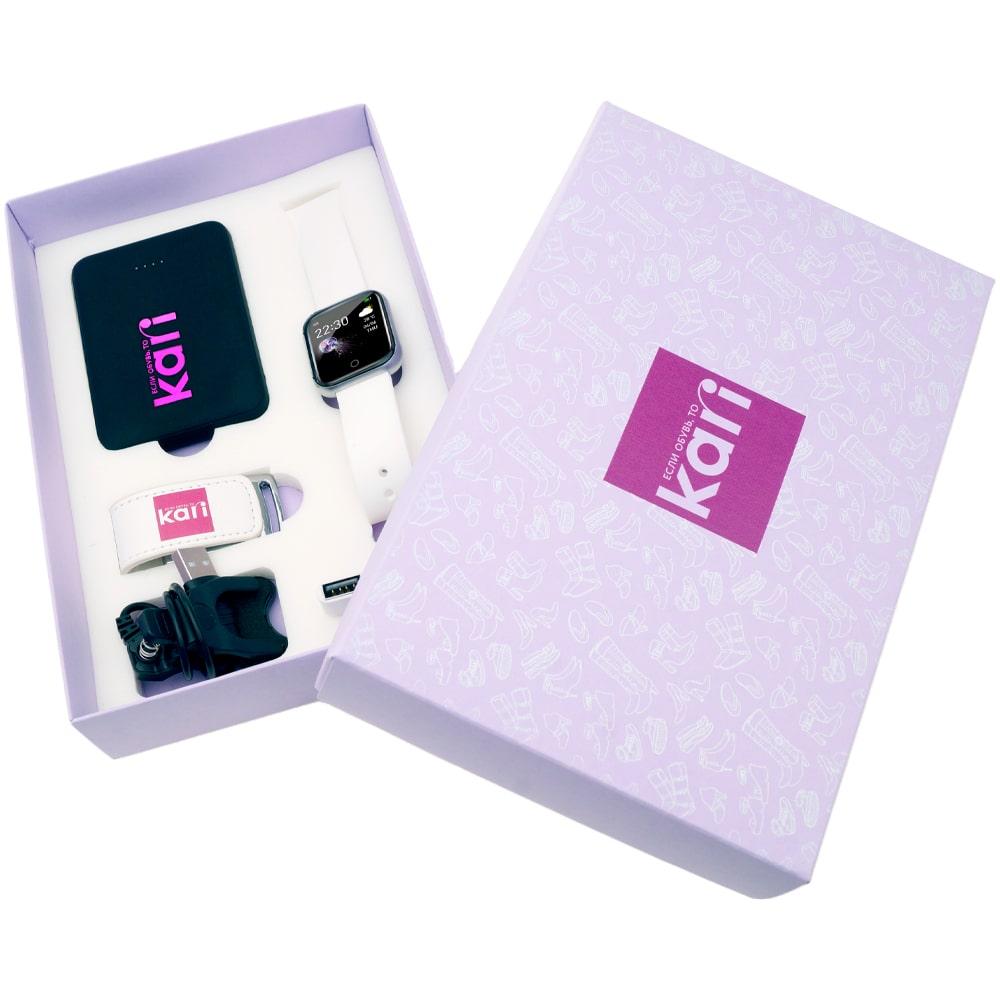 Кари-подарочный-набор-флешка-внешний-аккумулятор-часы-флеш-империя-внешний аккумулятор флешка умные часы флеш империя