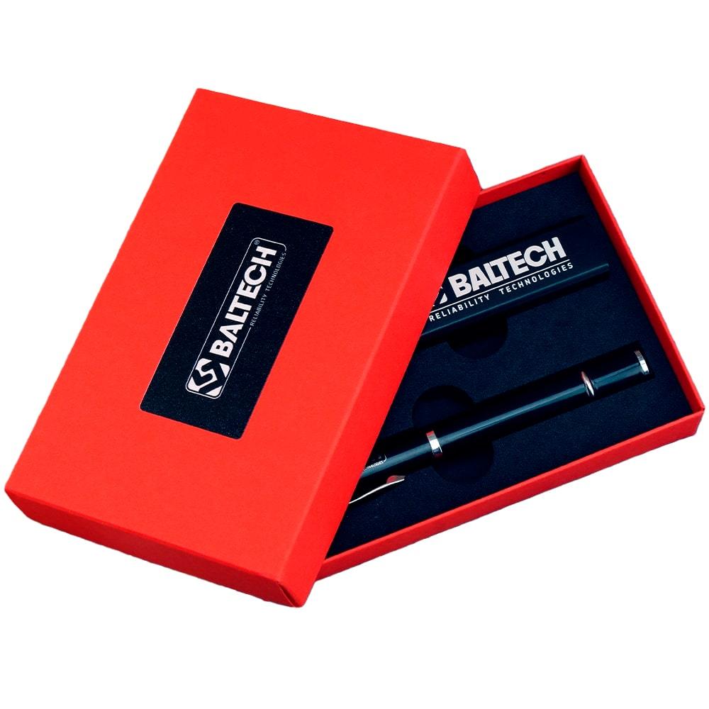 Подарочный комплект набор внешний аккумулятор ручка-флешка (2)